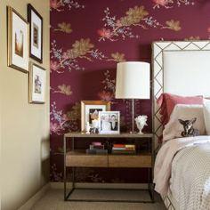 Kristina Wilson Design Houston Center Street Steve The Dog Wallpaper Studded Bed