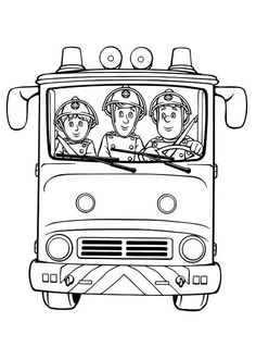 fireman sam fireman sam and friends on fire trucks coloring page
