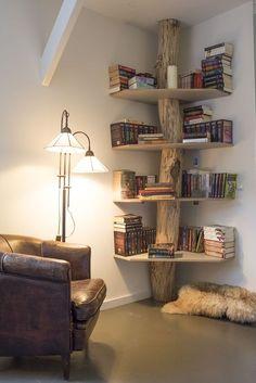 ideia-estante-para-livros-34 40 Ideias de estantes e prateleiras para livros decoracao-2 design dicas faca-voce-mesmo-diy interiores organizacao