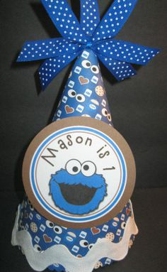 party hats for boys | Boys Cookie Monster Birthday Party Hat by ... | Birthday Party Hats