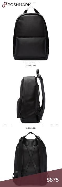 """3.1 PHILLIP LIM - 31 hour backpack Buffed leather backpack in black. Adjustable carry handle with pin-buckle fastening at top. Twin adjustable shoulder straps. Zippered compartment at face. Criss-crossing leather straps at back face. Two-way zip closure at main compartment. Zippered pocket at interior. Tonal textile lining. Tonal hardware. Tonal stitching. Approx. 12.5"""" length x 16.5"""" height x 6"""" width. 3.1 Phillip Lim Bags Backpacks"""