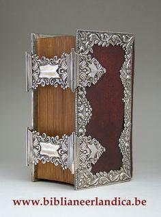 Biblia Neerlandica: BIBLIA (1853). Dubbele zilveren sloten, 4-zijdige randen. MST: J. & D. Veenstra, Leeuwarden (1841-71). JRL: 1855.