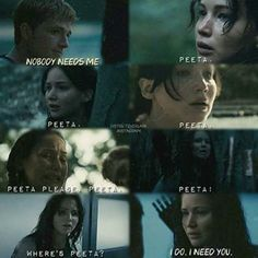 It´s not true. Katniss needs you. everyone need you, Peeta. Divergent Hunger Games, Hunger Games Memes, Hunger Games Cast, Hunger Games Fandom, Hunger Games Trilogy, Katniss And Peeta, Katniss Everdeen, Suzanne Collins, Hunter Games