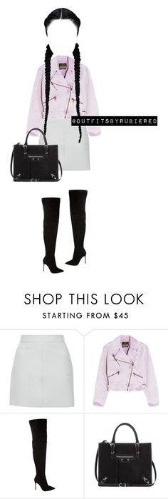 """""""XXXX"""" by outfitsbyrubiered ❤ liked on Polyvore featuring Topshop, Roberto Cavalli, Gianvito Rossi and Balenciaga"""