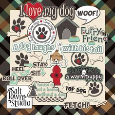 Must Love Dogs - Wordart ♥♥Join 3,900 people. Follow our Free Digital Scrapbook Board. New Freebies every day.♥♥