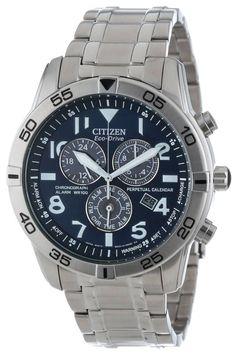 Citizen men watches : Citizen Men's BL5470-57L Eco-Drive Stainless Steel Perpetual Calendar Chronograph Watch