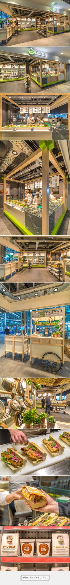 Enoki Fast Food Restaurant by VBAT, Utrecht – Netherlands »  Retail Design Blog - created via https://pinthemall.net