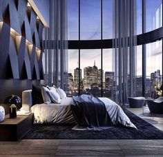 Contemporary bedroom by Stab Studio - Architecture and Home Decor - Bedroom - Bathroom - Kitchen And Living Room Interior Design Decorating Ideas - New York Penthouse, Luxury Penthouse, Luxury Apartments, Penthouse Apartment, Apartment Goals, New York Apartment Luxury, Nice Apartments, Penthouse Girls, Apartment Therapy