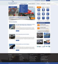 New website design for an important seaport by Pinku