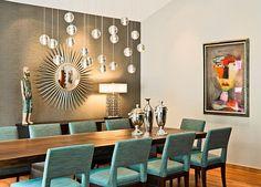 Aqua and beige home decor
