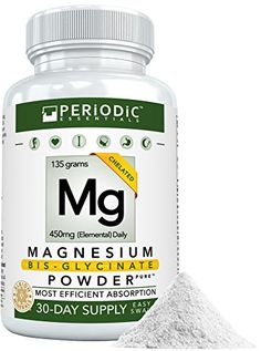 Magnesium Bisglycinate POWDER & Harvard Studied Non-Laxative & Non-Buffered Supplement & No Fillers, Big Pills, nor Added Flavor & 2 Glycinate Amino Acid Chelate and Balanced Body & Satisfaction Magnesium Supplements, Total Body, Harvard, Amino Acids, Pills, Health And Beauty, Powder, Study, Diet