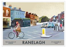 Ranelagh - Villages of Dublin - Ireland Posters. Edwardian House, Rest Of The World, Dublin Ireland, City, Prints, City Drawing, Cities, Printmaking