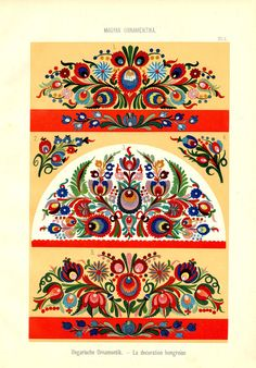 Magyar Ornament, Part 2 Hungarian Embroidery, Folk Embroidery, Learn Embroidery, Embroidery For Beginners, Embroidery Techniques, Flower Embroidery, Chain Stitch Embroidery, Embroidery Stitches, Embroidery Designs