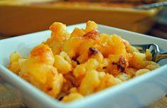 Creamy Cheese and Macaroni.  NOT a low-fat recipe!  Soooo good!
