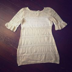 Vintage lace mini dress, Free People inspired! 60's style boho mini lace dress XS-S. I purchased this at a vintage store in Santa Monica. Can be used as a beach cover up, worn as a mini dress with a slip, or even a tunic top. Versatile and unique! Something you'd see at Free People! Dresses Mini