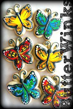 These Butterfly Cookies Were Made By ButterWinks    http://www.facebook.com/CheapCookieCutters?ref=ts#!/ButterWinks
