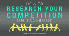 Keep up with social media activities of your competitors - research your competition on facebook