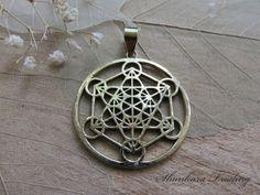 Metatron cube gold cross culture sacred geometry symbol for Metatron s cube jewelry