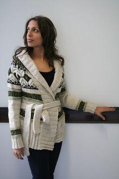 Indigirl True North Cardigan Knitting Pattern - NobleKnits.com