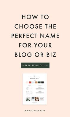 Finding a suitable name for your new brand is tough! Here are 5 steps for naming your blog + free logos templates to download!