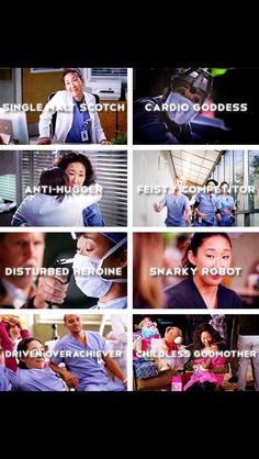 I know you hate Greys, but when I watch it, I constantly think that you are my Christina. INTJ & INFJ.