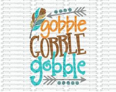 SVG, DXF, EPS cutting file, gobble gobble gobble svg, Thanksgiving svg, thankful svg, socuteappliques, turkey svg, feather svg, fall svg Monogram Shirts, Vinyl Shirts, Silhouette Cameo Projects, Silhouette Design, Vinyl Crafts, Vinyl Projects, Thanksgiving Crafts, Family Thanksgiving, Vinyl Designs