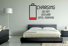 Charging Recharging Teenage Wall Art Sticker Vinyl Decoration | eBay