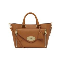 Small Willow Tote in Ginger Silky Classic Calf With Soft Gold | Women's Bags | Mulberry
