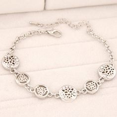 Heather Silver Color Leopard Shape Decorated Hollow Out Design Alloy Korean Fashion Bracelet  http://www.asujewelry.com