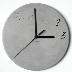 Concrete wall clock by Rork Homme http://instagram.com/p/BBvMQgaFUUh/
