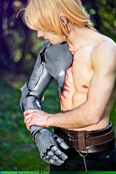 "updaterequired's Edward Elric cosplay from Full Metal Alchemist. That is one HOT cosplayer...he even has the red ""scarring"" too!"