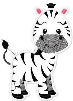 Zebra applique free embroidery design - Applique free designs - Machine embroidery forum