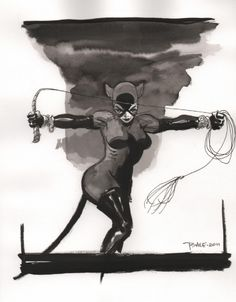Catwoman by Tim Sale Comic Art