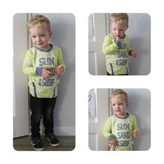 Een nieuwe outfit voor je kind hoeft helemaal niet duur te zijn: er is nog best wat keuze in de outlet. Thijs draagt vandaag een zonnige sweater uit de B.nosy zomercollectie van vorig jaar.  Heerlijk toch: voorjaar!