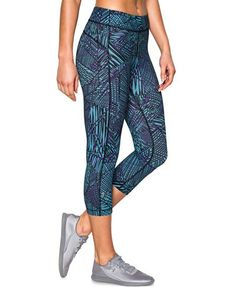 Under Armour HeatGear® Compression Printed Capri Leggings - Pants - Women - Macy's
