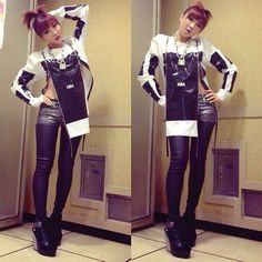 Love this outfit wish I could pull something like this off  minzy 2ne1 2014 - Buscar con Google