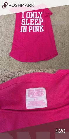"VS sleep gown  Hot pink ""I only sleep in pink"" nightgown! Perfect condition Victoria's Secret Intimates & Sleepwear Pajamas"