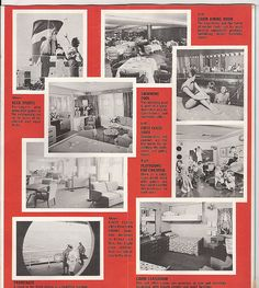 SS United States Interior   UNITED STATES Brochure: RLH Collection (I could do a whole board on just this ship)
