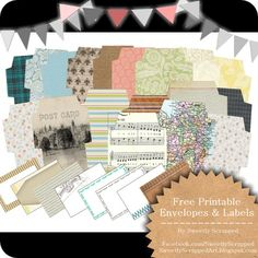 Sweetly Scrapped: 19 Freebie Printable Envelopes and Labels