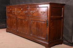 Antique Dresser Base-Antique Dresser BaseLate 18th C antique oak dresser base. 1790.