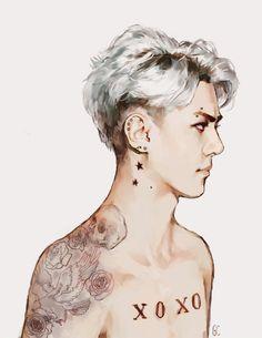 Sehun Tattoo fanart