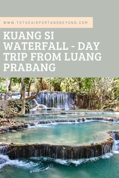#waterfall #LuangPrabang #Laos #Asia #Travel #Blog #Backpacking #Explore Elephant Sanctuary, Luang Prabang, Green Landscape, Group Tours, Place Of Worship, Great View, Asia Travel, Southeast Asia, Day Trips