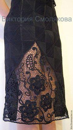Юбки ручной работы. Ярмарка Мастеров - ручная работа юбка ирландское кружево. Handmade.