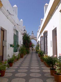 Cadiz Callejon arco puerto real