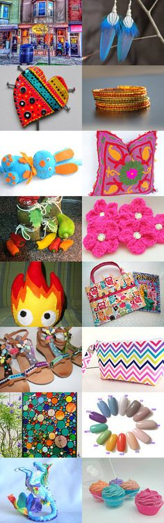 ☀Colorful☀ Summer☀ Days☀ Ahead☀ by Tina Cuva on Etsy--Pinned+with+TreasuryPin.com Summer Days, Handmade Items, Shops, Colorful, My Favorite Things, Yellow, Etsy, Tents, Retail