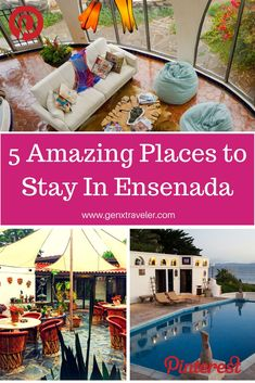 If your not visiting Ensenada on a cruise ship, you are going to need a place to stay and Ensenada has some amazing accommodations. Accommodations range from motel-style to glamping to resort and luxury estate stays. Here is all you need to know about whe Road Trip Packing, Road Trip Hacks, Road Trip Destinations, Vacation Trips, Vacations, Road Trip Photography, Hotel Secrets, South America Travel, Mexico Travel