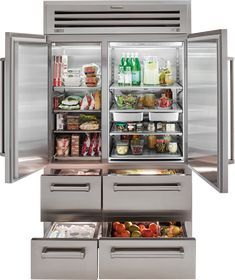 The Sub-Zero Professional Side by Side Refrigerator Freezer is rigorously tested to ensure dependability and offers an industry leading full two year warranty. Commercial Appliances, Sub Zero Appliances, Home Appliances, Cool Kitchen Appliances, Side By Side Refrigerator, Refrigerator Freezer, French Door Refrigerator, Fridge Organization, Kitchen Equipment