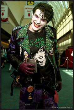 2014 San Diego Comic-Con Cosplay - The Joker, punk version.... I love him!! Great great cosplayer