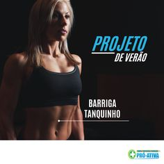 """#ProjetoDeVerão: Barriga Tanquinho 💪 Já ouviu aquela frase """"No Pain, no Gain"""" (Sem dor, sem ganho)? Para ficar com o a barriga chapada não tem jeito: foco na dieta e exercícios de fortalecimento muscular. Procure um nutricionista e um educador físico e siga as orientações 👍 #FocoNaDieta #FicaForte #Abs #ProAtiva #Verão #Saude"""