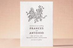 Elegance Illustrated Letterpress Wedding Invitations by Phrosne Ras at minted.com